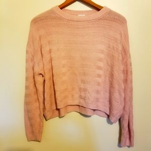 Garage Textured Knit Cropped Oversized Sweater